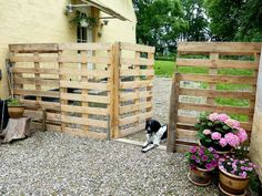 Make a Pallet Fence that will cost you nothing. ☀CQ #backyard #outdoor #garden