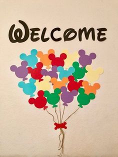 This cute decor is great for a classroom door or party decor! String not included Mickey Mouse Classroom, Mickey Mouse Crafts, Disney Classroom, Classroom Door, Classroom Themes, Disney Birthday, Disney Theme, Mickey Mouse Birthday, Disney Hall