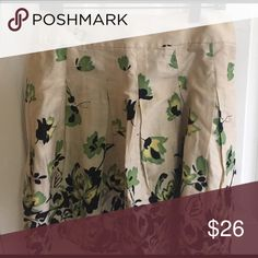 A line floral skirt A line floral skirt Skirts A-Line or Full