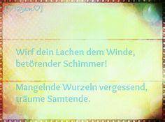 Wirf dein Lachen im Winde