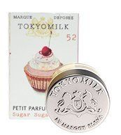 Margot Elena Tokyo Milk Sugar Sugar Petit Parfum Solide 52 by Margot Elena. $20.94. Tempting confection: Coconut Milk, Vanilla Absolute, Sandalwood, Basmati Rice.. Beautiful packaging. Margot Elena Tokyo Milk Sugar Sugar Petit Parfum Solide 52. This charming box fits perfectly in the palm of your hand; decorated with a vintage hand-glittered image of a yummy cupcake. Slide open the matchbook-style box to reveal a glass pot of Parfum Solide. Sugar Sugar is a delicate...