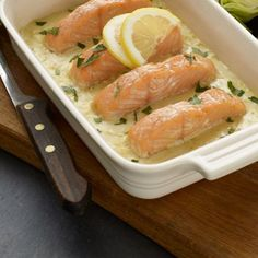 Fish Recipes, Salmon, Food And Drink, Broccoli, Ethnic Recipes, Lemon, Atlantic Salmon, Trout