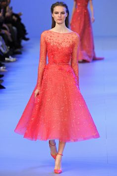 Tea length and pointy-toes.  Elie Saab Spring 2014 Couture Collection Slideshow on Style.com
