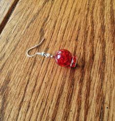 Globe Earrings Christmas Drop Dangle Earrings by JellyTreeJewelry
