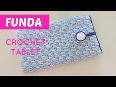 Aprende a tejer una bonita funda crochet para tablet o libro electrónico. Funda trabajada en punto ladrillo a crochet