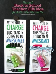Practical Back to School Teacher Gift Idea
