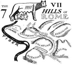 The 7 Hills of Rome, east of the river Tiber form the geographical heart of Rome…