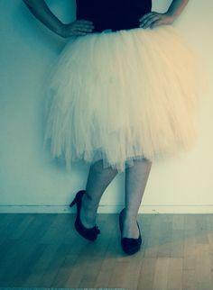 White tulle skirt #valkoinen tyllihame