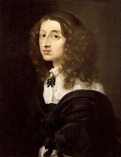 Queen Christina of Sweden   Reign 1633-1654   Daughter of Gustavus Adolphus II   Artist Sébastien Bourdon