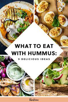What to Eat with Hummus (Besides Boring Old Crackers) - - What to Eat with Hummus (Besides Boring Old Crackers) Recipes Was man mit Hummus isst (außer langweiligen alten Crackern) Vegetarian Appetizers, Appetizer Recipes, Vegetarian Recipes, Healthy Recipes, Recipes With Hummus, Gf Recipes, Recipies, Healthy Superbowl Snacks, Lunch Snacks
