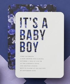 Give baby a big introduction with fancy birth announcements. | Tiny Prints