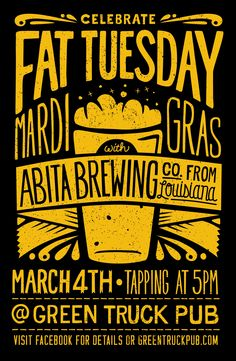 Poster promoting Abita Tap takeover at Green Truck Pub – Beer Hipster Graphic Design, Graphic Design Posters, Graphic Design Inspiration, Event Poster Design, Event Posters, Poster Designs, Movie Posters, Hipster Poster, Beer Poster