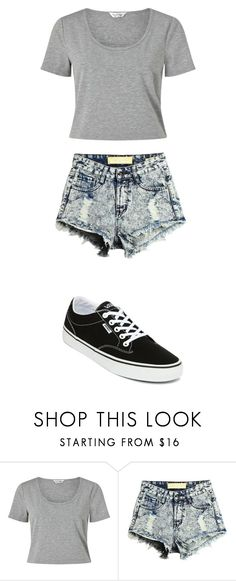 """""""grey"""" by amelia139 on Polyvore featuring Miss Selfridge and Vans"""