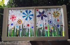 This Garden Glass Window is called 'Flower Garden Transom'.