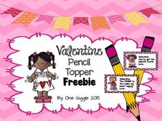 These Valentines are perfect to attach to pencils and give to students as gifts on Valentine's Day!