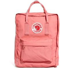 Fjallraven Kanken Mini Backpack (4,715 PHP) ❤ liked on Polyvore featuring bags, backpacks, accessories, fillers, bags/purses, pink, red canvas bag, red bag, mini backpack und pink mini backpack