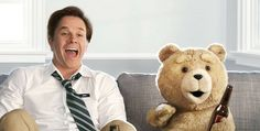 Mark Wahlberg stars in Seth Macfarlane 's first feature film Ted , out in theaters today. In the movie he plays John Bennett, a pot-smoking, unmotivated, guy who hangs out with his best friend– and teddy bear– named Ted. This is the 4 . Seth Macfarlane, Funny Movies, Comedy Movies, Great Movies, Funniest Movies, Movies Free, Movies 2019, Joel Mchale, Epic Movie