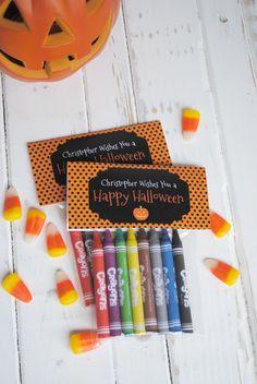 Happy Halloween Crayon Bag Kits. $15.00, via Etsy. Possible Class Party Idea