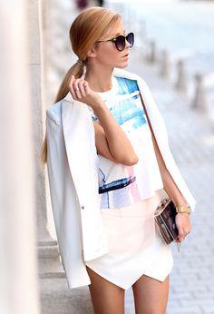 Art inspired T-shirt. Zara skort - Clothes I have