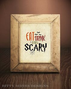 Halloween Decor, Seasonal, Word Art, 5x7, 8x10, Print or Printable, Halloween Seasonal Decor