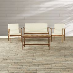 Found it at Wayfair - Lakeside 4 Piece Deep Seating Group with Cushion