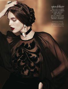 Emily Didonato by Matthew Scrivens VOGUE Beauty October 2012