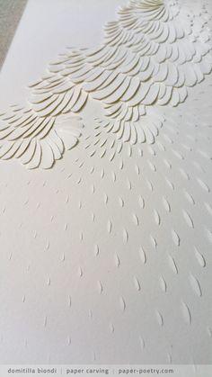 «Rumi Remixed» Series - n11 detail | domitilla biondi paper carving  _______ #papercarving #papercut #paperwork #paperpoetry #minimal #basrelief #miniature #white #shadowart #italianartist #japaneseart #harmonia #beauty #spirituality #paperporn #magnifique #light #love #abstract #rain