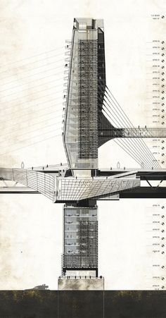 BAY BRIDGE 2050 - San Francisco, CA by Aaron Berman Architecture (Laurie Hawkinson / Christian Uhl Studio) - Columbia University | Fall, 2011 :: Bay Bridge 2050 was designed as a means of speculation on the future of high speed transit, development, and emerging technologies in California 2050.