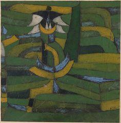 Collection Online | Paul Klee. White Blossom in the Garden (Weisse Blüte im Garten). 1920 - Guggenheim Museum