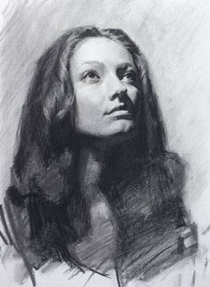 Drawing Portraits - Portrait drawing technique with charcoal, Louis Smith Discover The Secrets Of Drawing Realistic Pencil Portraits.Let Me Show You How You Too Can Draw Realistic Pencil Portraits With My Truly Step-by-Step Guide. Portrait Sketches, Pencil Portrait, Female Portrait, Portrait Art, Drawing Portraits, Louis Smith, Drawing Faces, Life Drawing, Drawing Sketches
