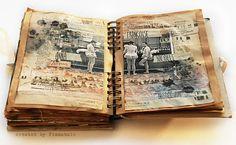 art journal - shabby vintage collage