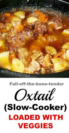 The BEST Slow-Cooker Oxtail recipe ever ! The best slow-cooker oxtail recipe ever! Oxtail Recipes Crockpot, Slow Cooker Recipes, Crockpot Recipes, Cooking Recipes, Healthy Recipes, Curry Recipes, Soup Recipes, Oxtail Soup Recipe Crock Pot, Drink Recipes