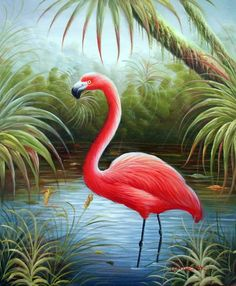 DIY Diamond Wall Tree Painting Flamingo Sticker Animal Picture Full Square Drill Cross Stitch Beadwork Embroidery Home Decor Flamingo Painting, Flamingo Art, Pink Flamingos, Flamingo Pictures, Oil Painting App, Jungle Art, Tropical Art, Cross Paintings, Bird Paintings