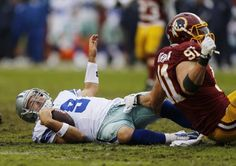I was rooting for the Cowboys on the Monday Night game against the Washington Redskins, it was looking good until Tony Romo took a big sack from linebacker Keenan Robinson..............