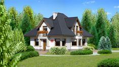 DOM.PL™ - Projekt domu Dom przy Sielskiej 2 CE - DOM EB2-85 - gotowy koszt budowy Mansions, House Styles, Mica, Home Decor, Houses, Decoration Home, Room Decor, Villas, Interior Design