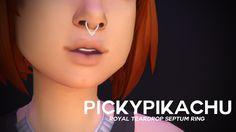 Royal Teardrop Septum Ring at Pickypikachu via Sims 4 Updates Check more at… Sims 4 Mm Cc, My Sims, Sims 4 Piercings, Sims 4 Blog, Smiley Piercing, The Sims 4 Download, Sims Games, Sims 4 Cc Finds, Sims 4 Update