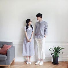 Official Korean Fashion : Korean Couple Look Matching Couple Outfits, Matching Couples, Cute Couples, Korean Couple Photoshoot, Pre Wedding Photoshoot, Korean Fashion, Trendy Fashion, Fashion Outfits, Fashion Ideas