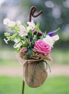 shabby chic wedding flowers @ River Cottage HQ. Phot: Aneta Mak