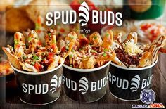 Shop now for affordable delicious treats at www.etroDeal.com and Get Your Fill of Deliciously Topped Fried Potato Skins from Spud Buds for P90 instead of P150 - Available at SM MOA!