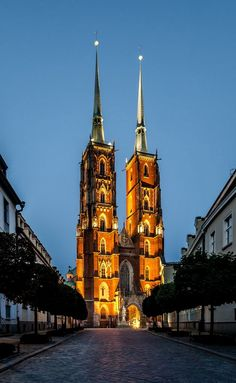 The Cathedral of St. John the Baptist in Wrocław, Poland