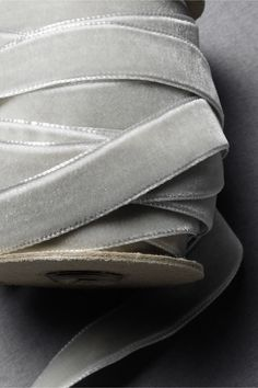 Velvet Ribbon Wrap things in spools of supple velvet. From Tinsel Trading Co. France 16 mm 10 yd roll Velvet Ribbon Wrap things in spools of supple velvet. From Tinsel Trading Co. Jungkook Fashion, Blue Photography, Gris Taupe, Touch Of Gray, Gray Aesthetic, Gray Matters, Fifty Shades Of Grey, Velvet Ribbon, Haberdashery