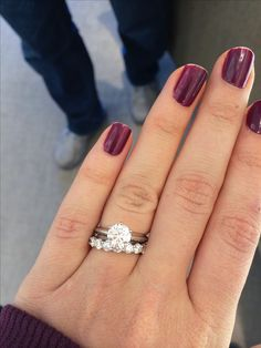 Please show me your 1.5 carat engagement ring with eternity band!! - Weddingbee