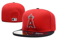Los Angeles Angels MLB Baseball Cap 3D Embroidery Logo LA of Anaheim Cooperstown Fitted Hats