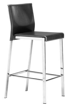 Zuo Modern Boxter Counter Chair  in Black