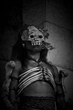 mayan skull mask