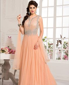 Buy Stunning Orange Readymade Gown online at  https://www.a1designerwear.com/stunning-orange-readymade-gown  Price: $106.58 USD