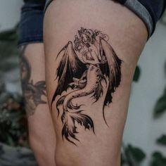 Mermaid Shell, Back To Work, Tattoos, Beautiful, Instagram, Tatuajes, Tattoo, Tattoo Illustration, Irezumi