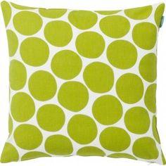Spira Pom Pom Green Cotton Fabric