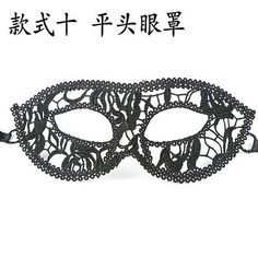 Hot Women Black Christmas Halloween Party Eye Mask Hollow Out Lace Veil Masks