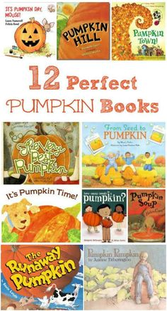 Pumpkin books for toddlers, preschool, kindergarten and elementary ages to pair with Fall activities | Fall themed pumpkin and jack o lantern picture books for read aloud, Halloween story time, classroom reading centers and fall celebrations!